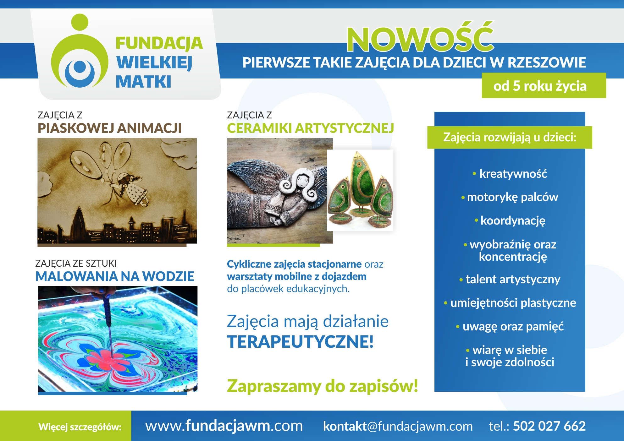 Szkoła - rysowanie piaskiem, Ebru